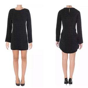 Anine Bing Black Mini Dress with Embellishments XS